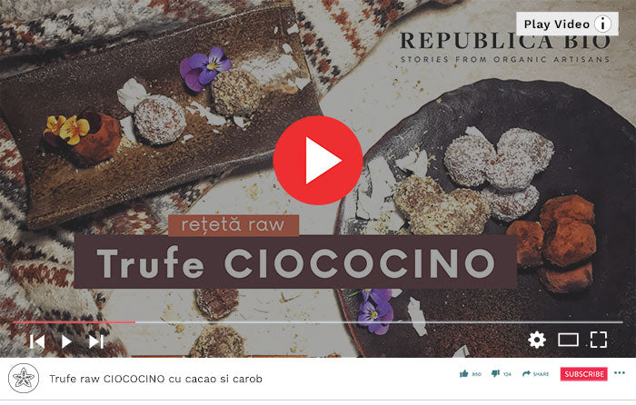 Trufe raw CIOCOCINO - Video Republica BIO