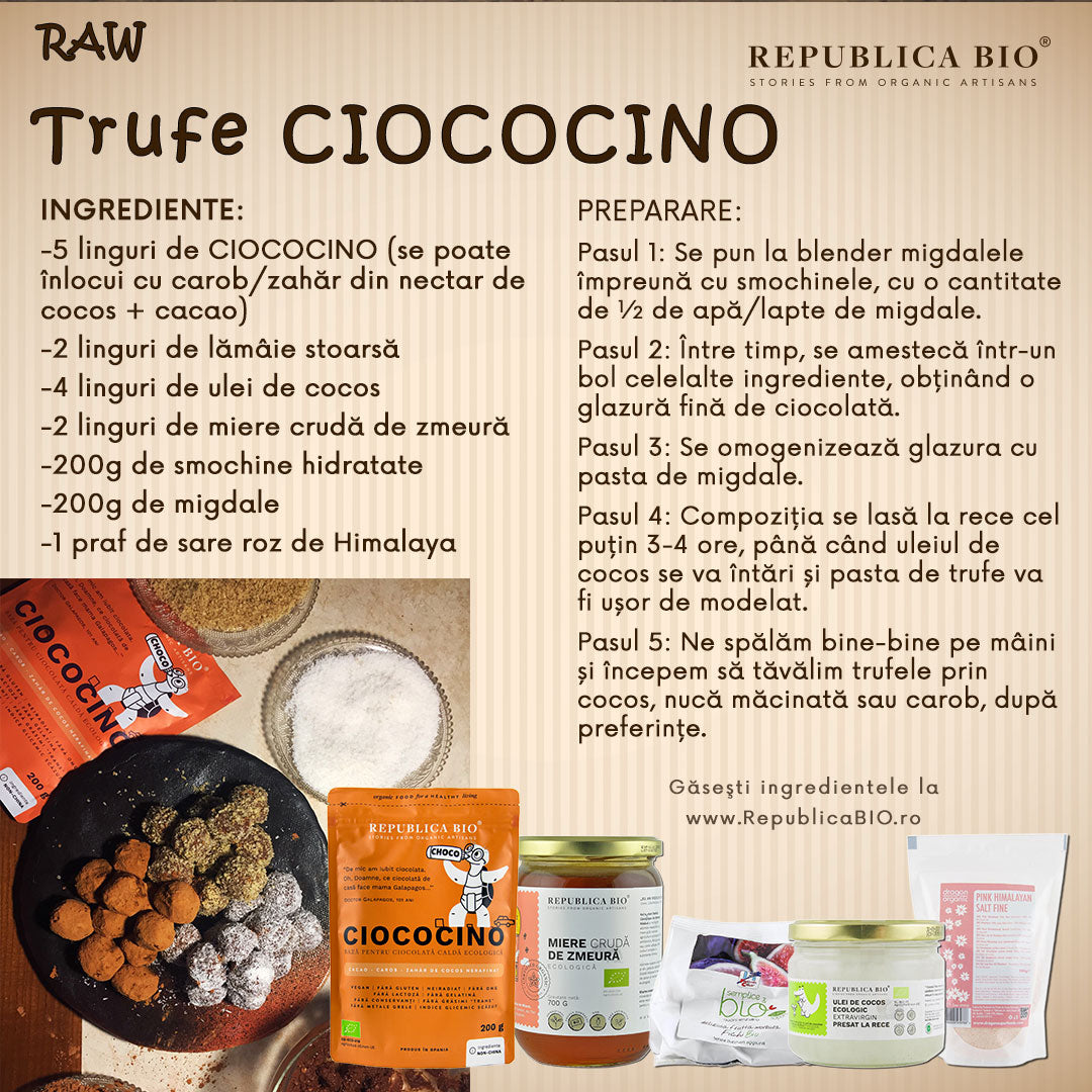 Trufe raw CIOCOCINO - Republica BIO