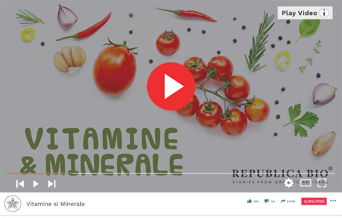 Vitamine si Minerale - Video Republica BIO