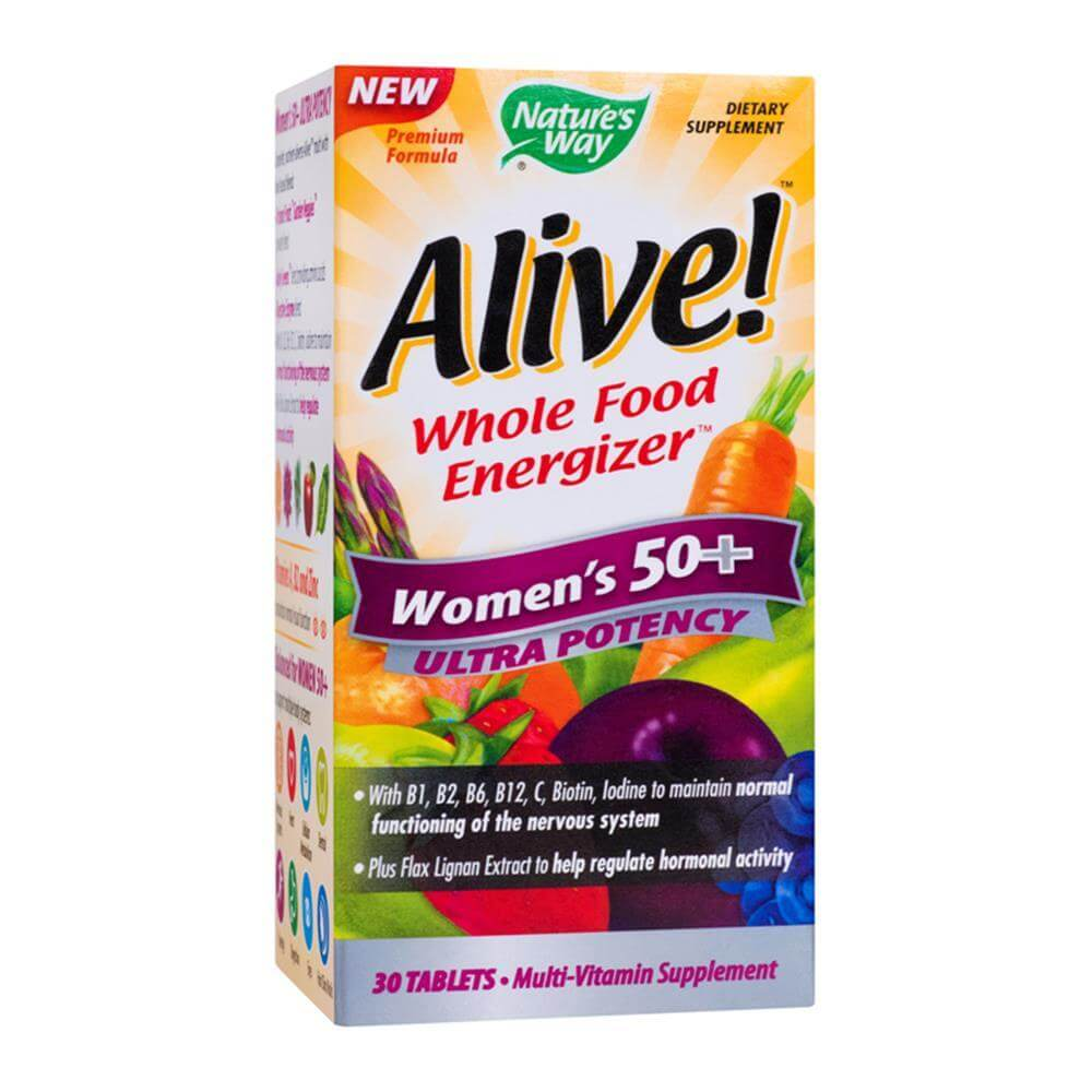 Alive!? Women's 50+ Ultra 30 tablete filmate Nature's Way, natural, Secom