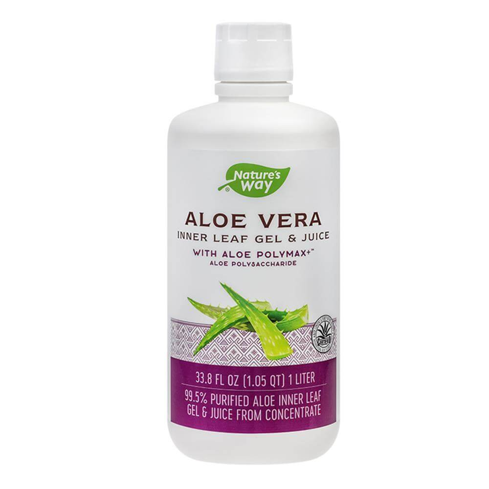 Aloe Vera Gel & Juice cu Aloe Polymax Nature's Way, 1000ml, natural, Secom