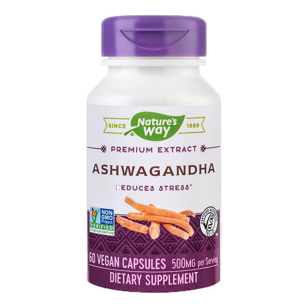 Ashwagandha SE 500mg 60 capsule vegetale Nature's Way, natural, Secom