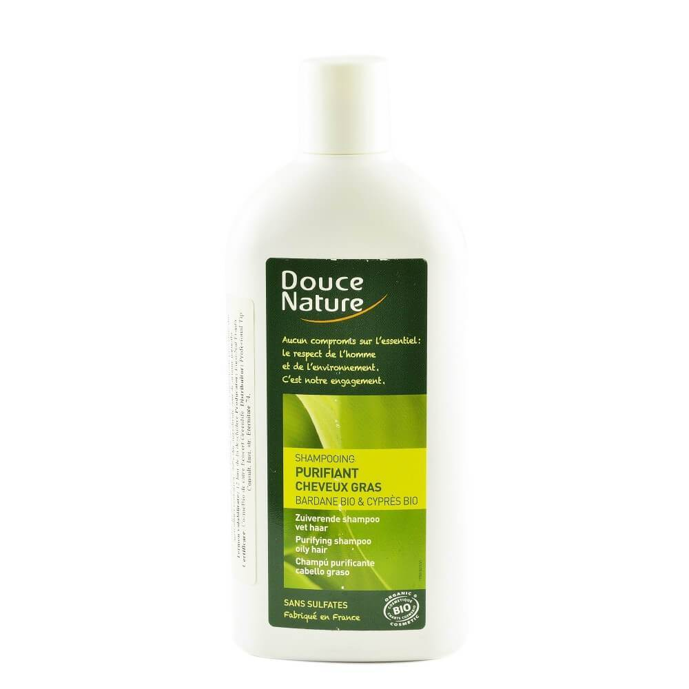 Sampon purifiant pentru par gras, Douce Nature, bio, 300 ml
