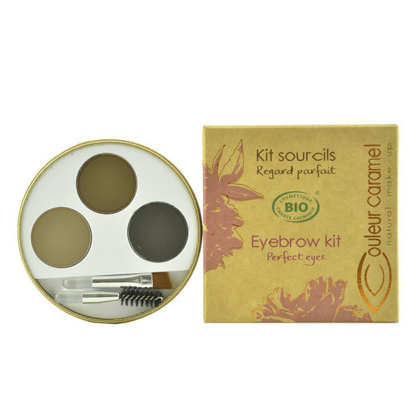 Kit de sprancene pentru brunete 929 Couleur Caramel, bio