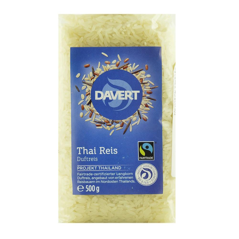 Orez alb Thai 500 g Davert, Fairtrade, bio
