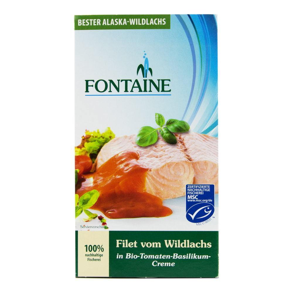 Somon salbatic in sos ecologic de rosii Fontaine, 200 g