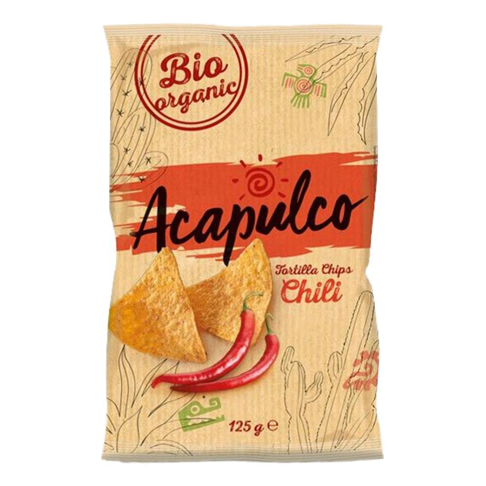 Tortilla chips cu chili Acapulco, bio, 125 g, ecologic imagine produs 2021 Acapulco republicabio.ro
