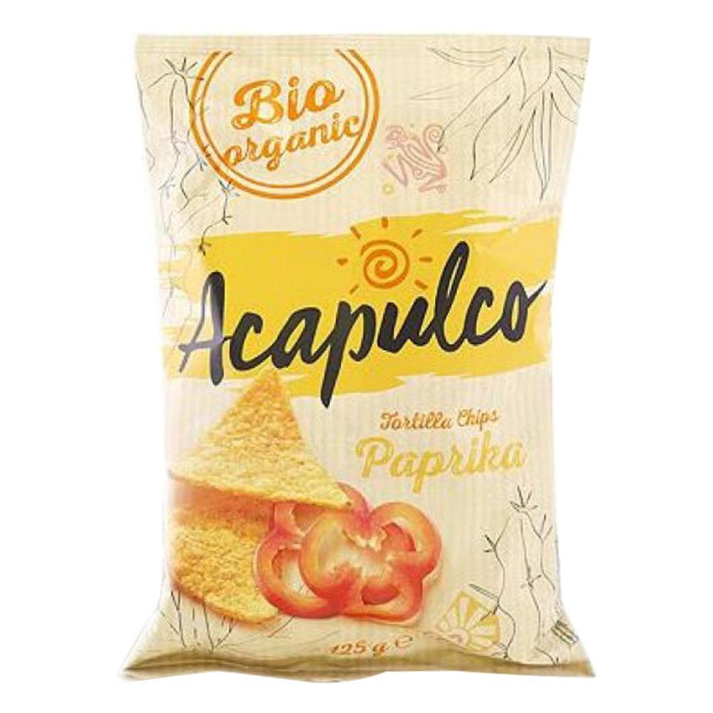 Tortilla chips cu boia Acapulco, bio, 125 g, ecologic imagine produs 2021 Acapulco republicabio.ro
