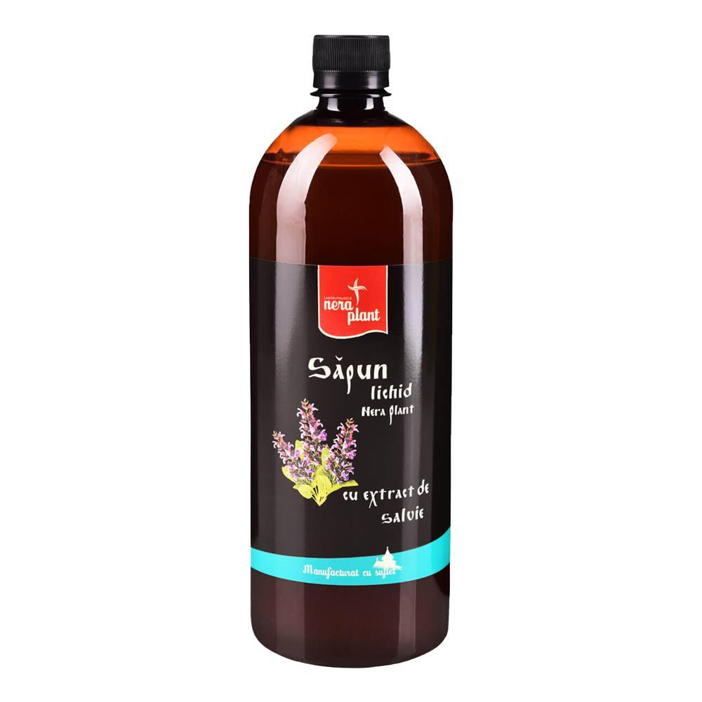 Sapun lichid cu extract de salvie Nera Plant, 1000 ml, natural imagine produs 2021 Nera Plant republicabio.ro