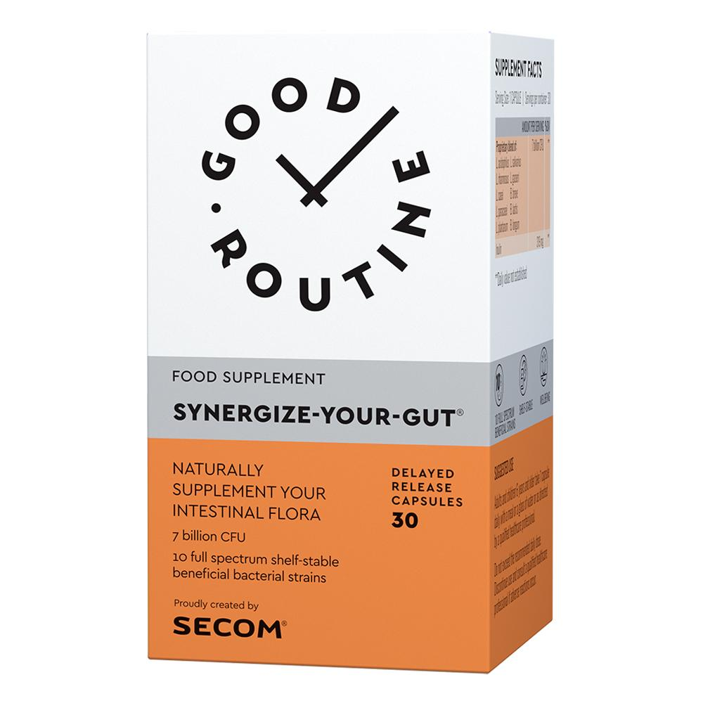 Synergize-Your-Gut® 30 capsule Good Routine, natural, Secom