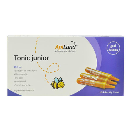 Tonic Junior Apiland, 10 fiole x 10 ml, natural