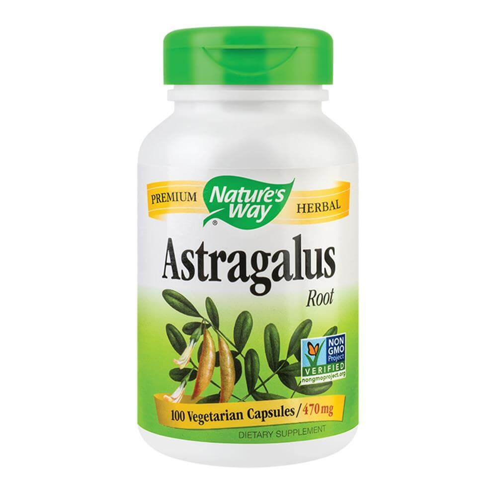Astragalus 470mg 100 capsule vegetale Nature's Way, natural, Secom