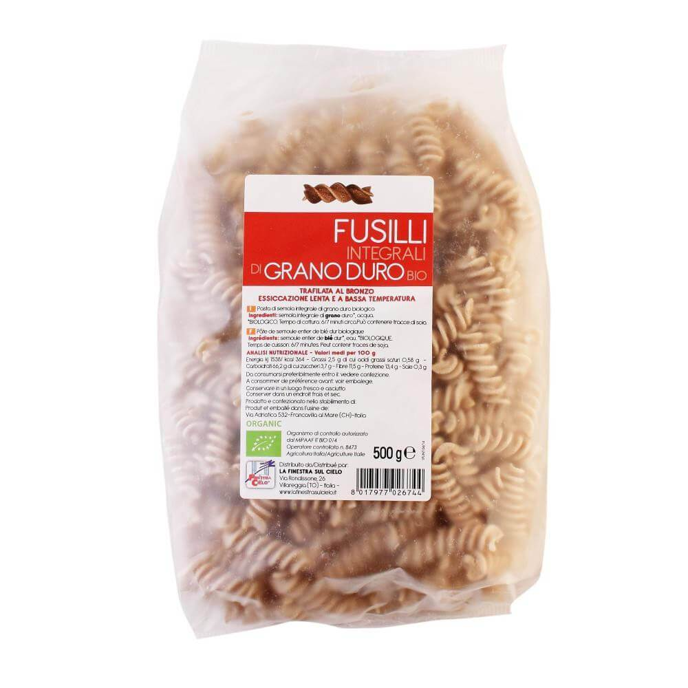 Paste Fusilli Din Grau Integral 500g
