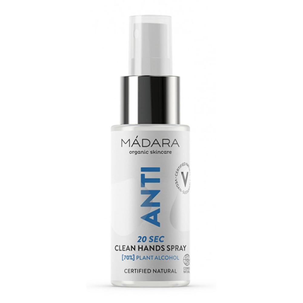 Spray igienizant (70% alcool) ANTI 20 SEC CLEAN HANDS Madara, 50 ml, natural imagine produs 2021 Madara republicabio.ro