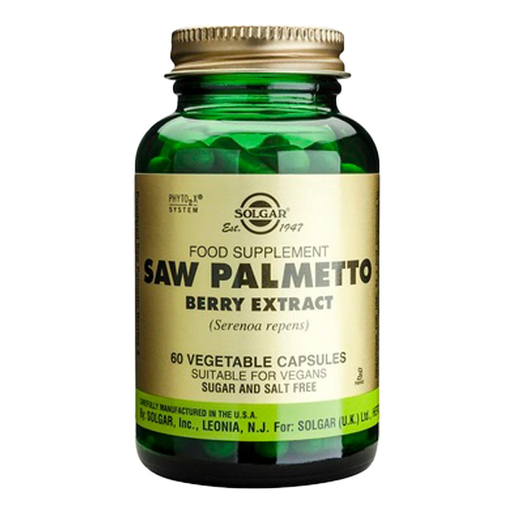 Saw Palmetto Berry Extract (Extract din fructe de palmier pitic) 60 capsule, Solgar, natural imgine