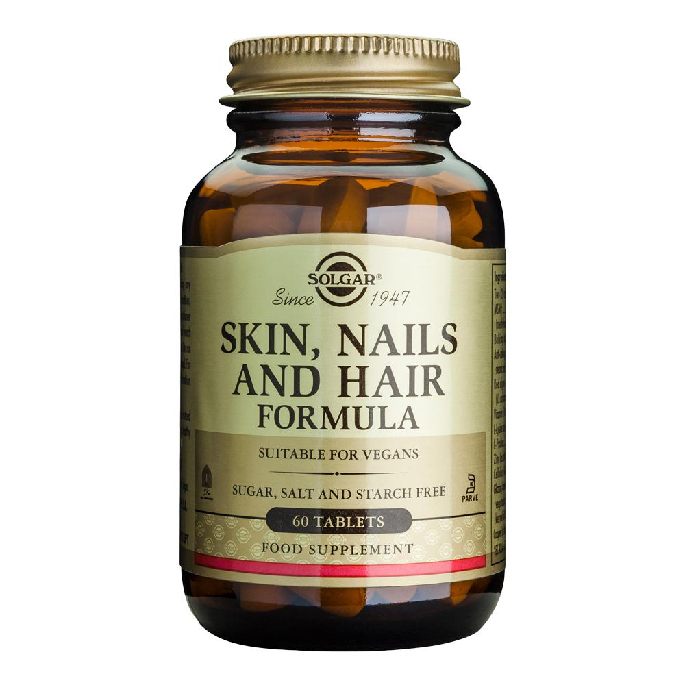 Supliment Skin, Nails and Hair (Piele, Unghii si Par) 60 tablete Solgar, natural imgine