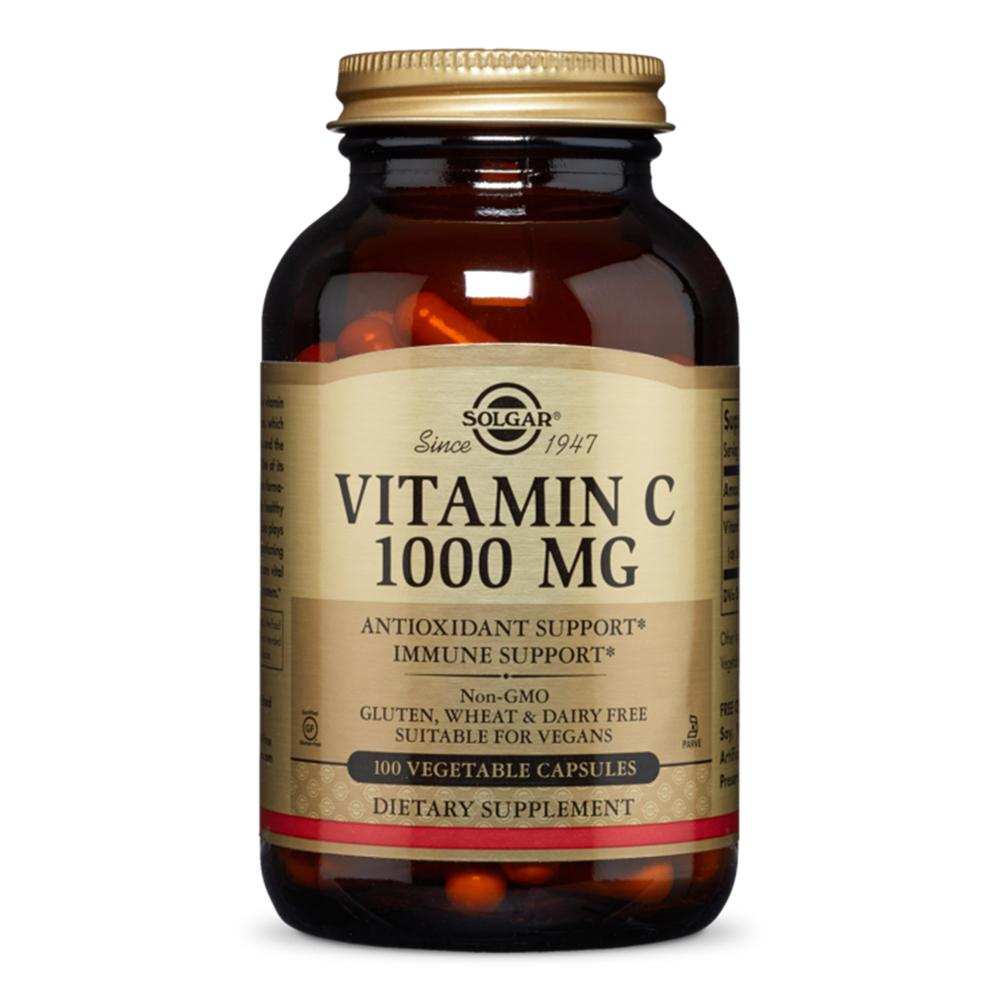 Vitamina C 1000mg 100 capsule, Solgar, natural