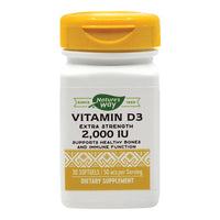 Vitamina D3 2000UI (adulti) 30 capsule moi Nature's Way, natural, Secom