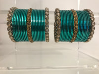 VANESSA Sea Blue Bangle Set