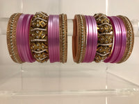 OMBRE / Two Tone Lilac Bangle Set