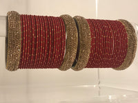 SHIKA Red Bangle Set
