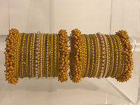 ANUSHKA Yellow Bangle Set