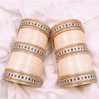 Ivory Traditional Pearly Dot Bridal Chura | Your Bangles Exclusive
