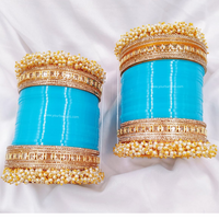 Blue Pearly Bridal Chura | Your Bangles Exclusive