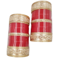 Red Golden Bridal Chura | Your Bangles Exclusive