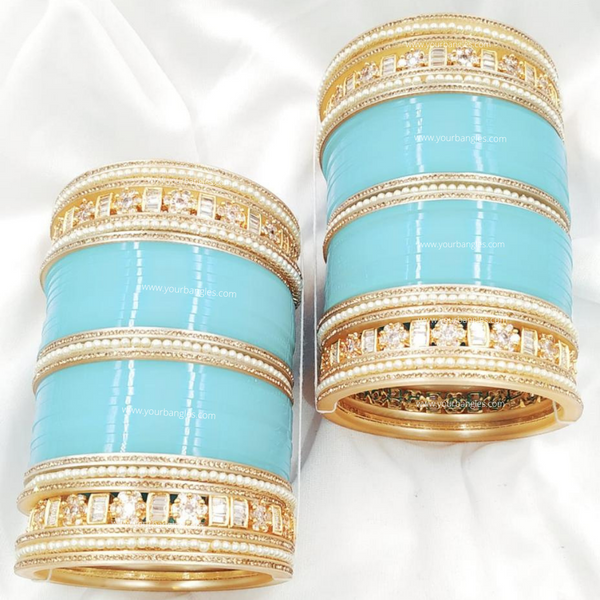 Golden AD Bridal Chura | Your Bangles Exclusive