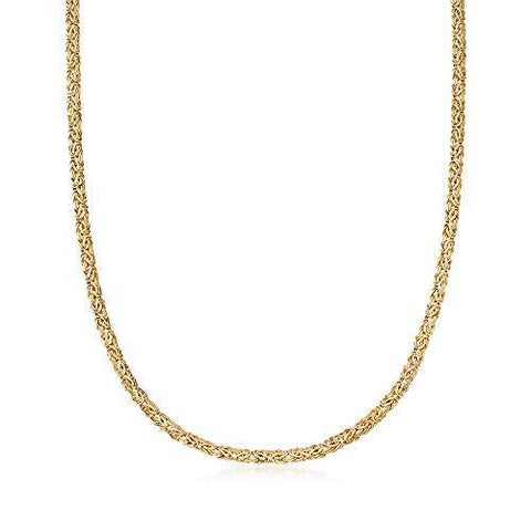4mm 14kt Yellow Gold Byzantine Necklace - Skyjewelry