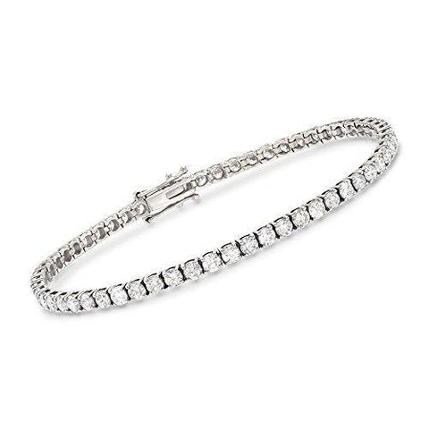 6.50 ct. t.w. Diamond Tennis Bracelet in 14kt White Gold - Skyjewelry