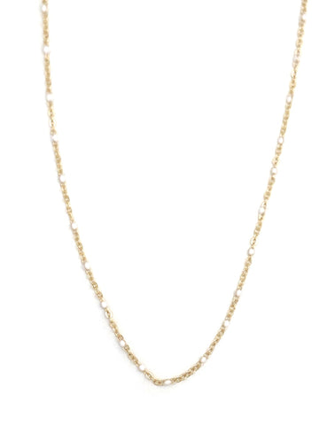 White Dot Necklace Chain