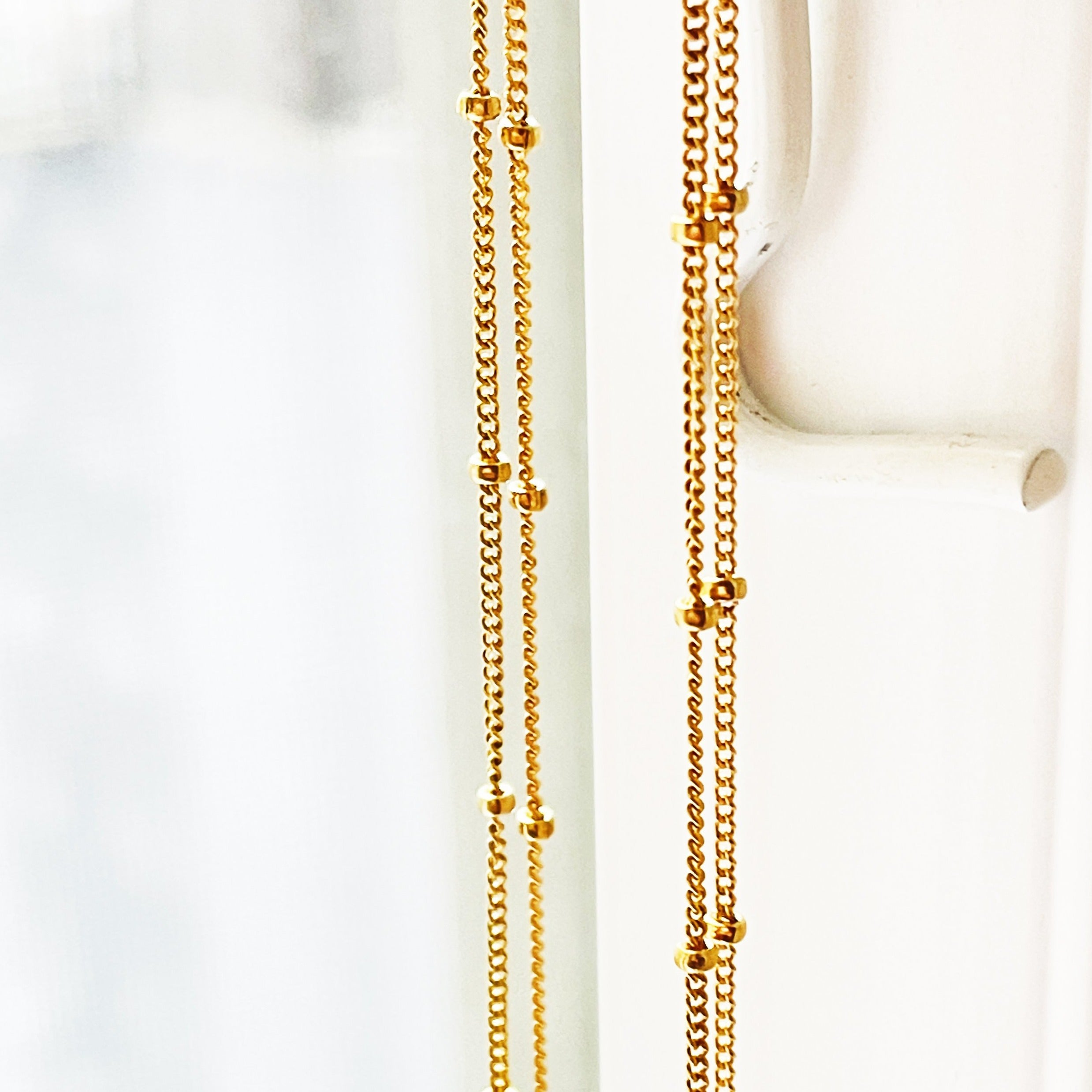 "Two 14"" sections of Gold-Filled Satellite Chain"