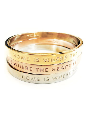 """Home is Where the Heart Is"" Bangle - Sale"