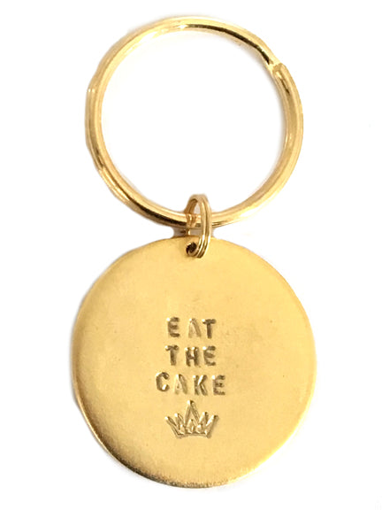 "Jumbo ""Eat the Cake"" Key Rings"