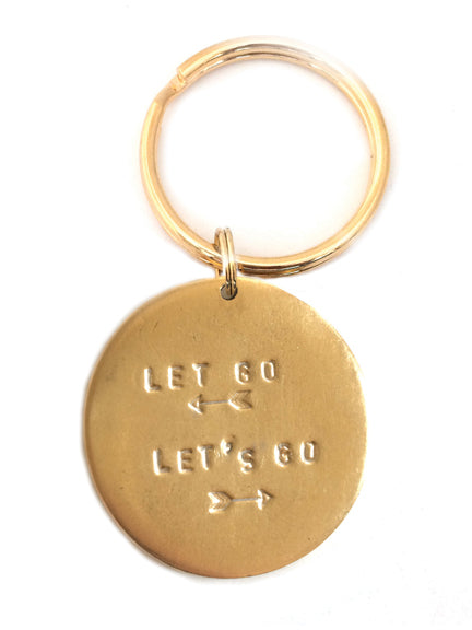 "Jumbo ""Let Go Let's Go"" Key Rings"