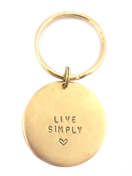 "Jumbo ""Live Simply"" Key Rings"