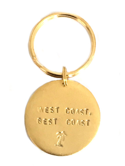 "Jumbo ""West Coast, Best Coast"" Key Rings"