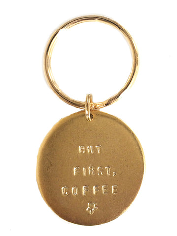 "Jumbo ""But First, Coffee"" Key Rings"