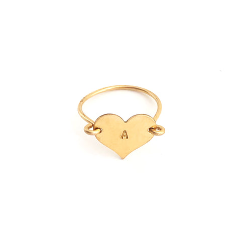 Heartthrob Ring- Letter A- Friday Flash Sale
