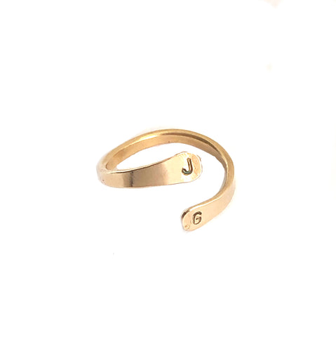 Double Initial Ring- J & G - Friday Flash Sale