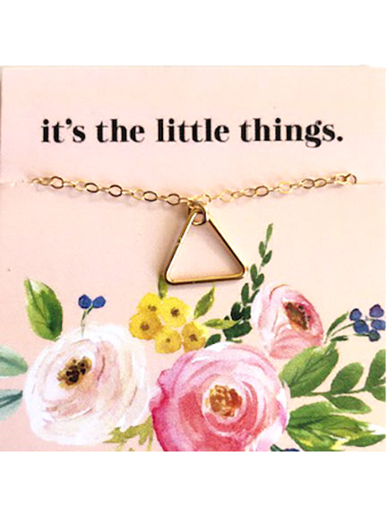 Gold Triangle Outline Necklace