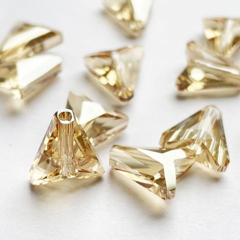12mm Swarovski Arrow Bead 5748 in Golden Shadow Champagne