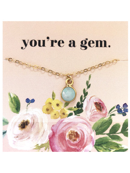 Gem Charm Necklace