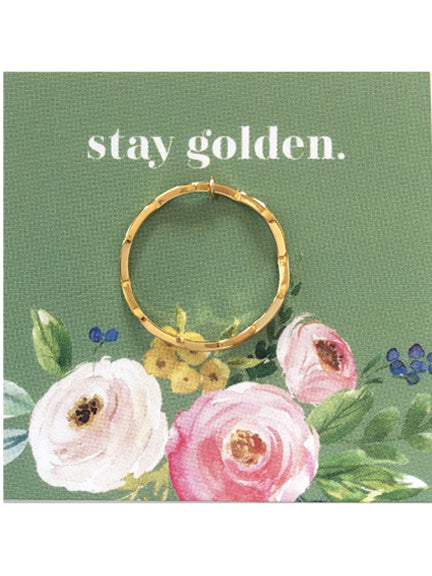 Gold Dipped Wave Ring
