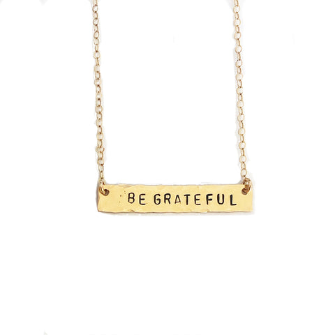 BE GRATEFUL Necklace- Friday Flash Sale