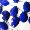 20 pieces of Dyed Blue Jade Teardrop Beads