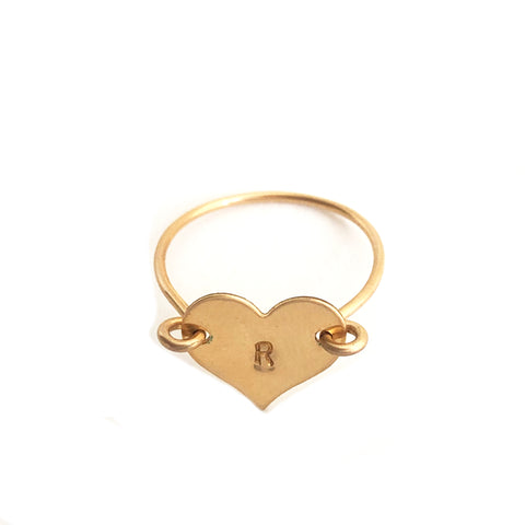 Heartthrob Ring- Letter R- Friday Flash Sale