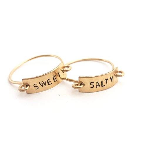 Tayt Ring Set- SWEET and SALTY - Friday Flash Sale